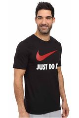 Nike Negro / rojo de Hombre modelo new jdi swoosh Polos Deportivo