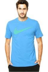 Nike Celeste de Hombre modelo CHEST SWOOSH TEE Polos Casual