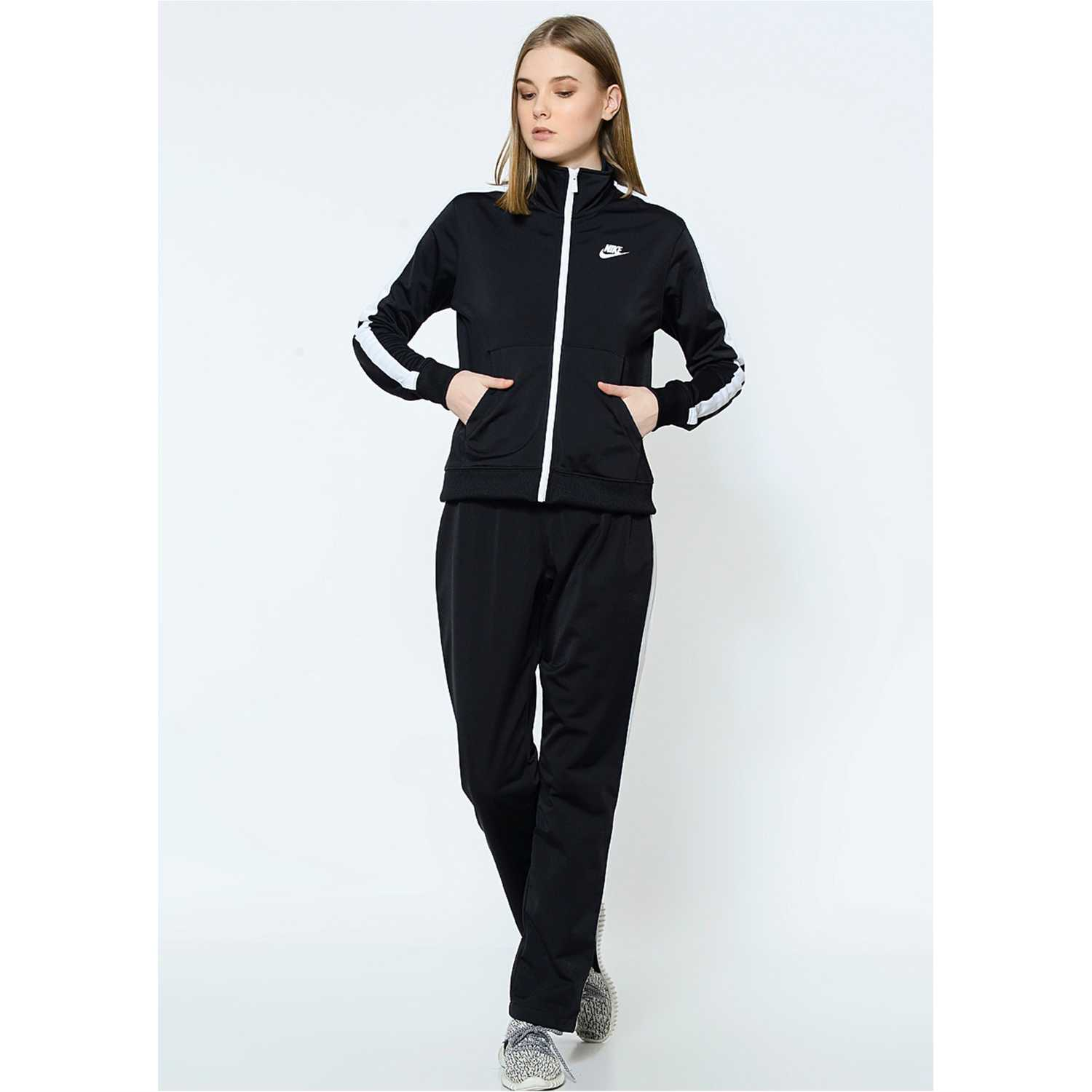 Buzo de Mujer Nike Negro / blanco wmns nsw trk suit pk oh