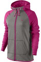 Nike Gris / Morado de Mujer modelo ALL TIME FZ HOODY Deportivo Casacas