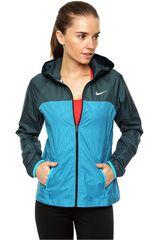 Nike Celeste / Verde de Mujer modelo RACER WOVEN JACKET Casacas Deportivo