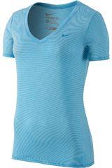 Nike Celeste de Mujer modelo LEGEND VNECK VNR SS TEE Deportivo Polos