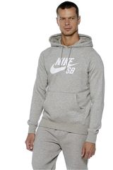 Nike Gris / Blanco de Hombre modelo SB ICON CRACKLE PO HOODY Poleras Deportivo