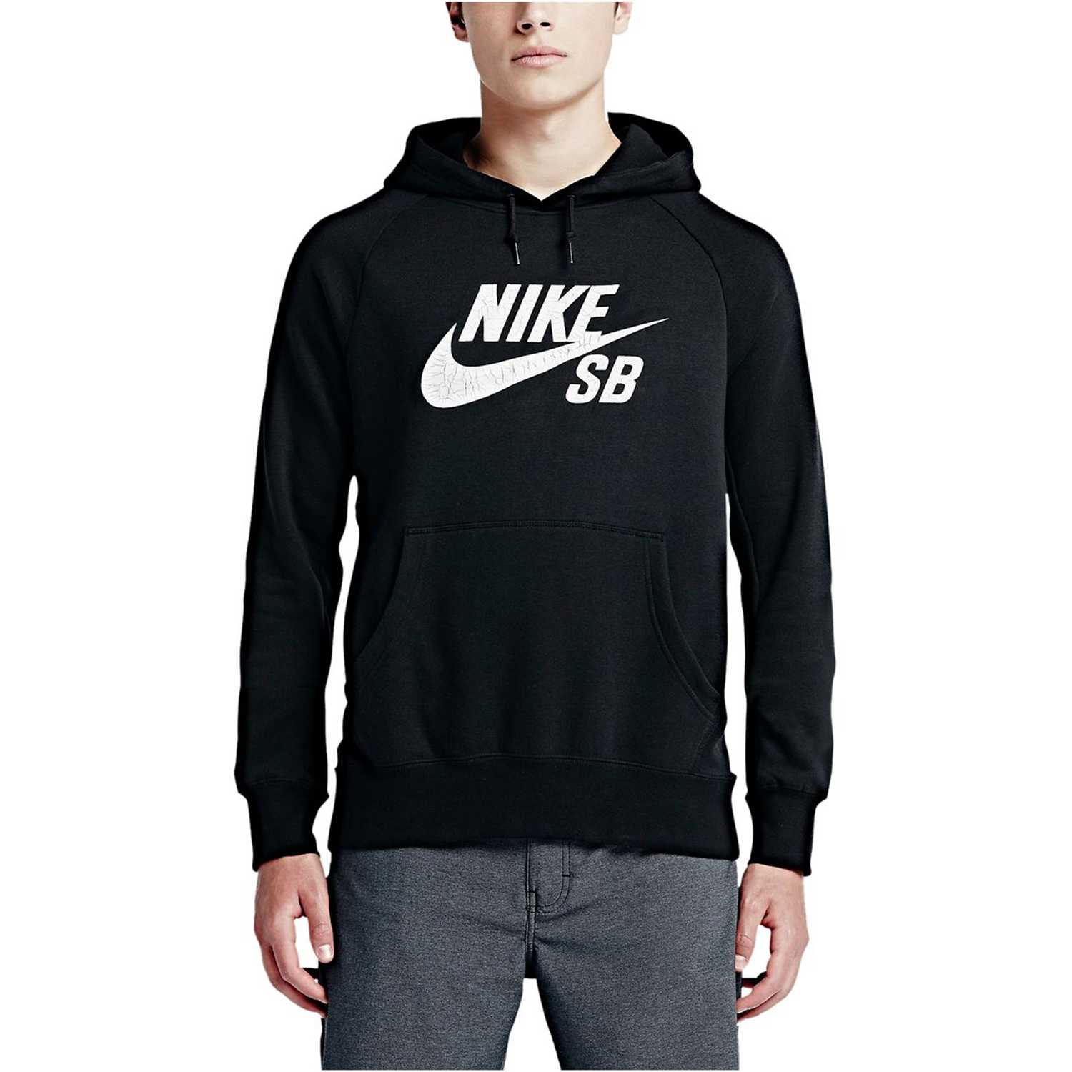 the best attitude a4fe9 e0e1b Polera de Hombre Nike Negro  Blanco sb icon crackle po hoody