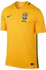 Nike Amarillo / Verde de Hombre modelo CBF M SS HM STADIUM JSY (BRASIL) Deportivo Polos Camisetas