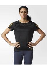 adidas Negro de Mujer modelo RS SS TEE W Deportivo Polos