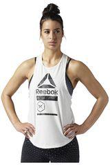 Reebok Blanco / Negro de Mujer modelo AC GRAPHIC TANK Bividis Deportivo