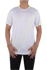 Nike Blanco / Amarillo de Hombre modelo DRY ACDMY TOP SS GX Camisetas Deportivo Polos