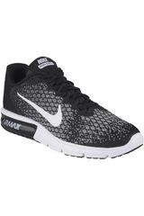 Nike Negro / Blanco de Mujer modelo WMNS AIR MAX SEQUENT 2 Running Zapatillas Deportivo