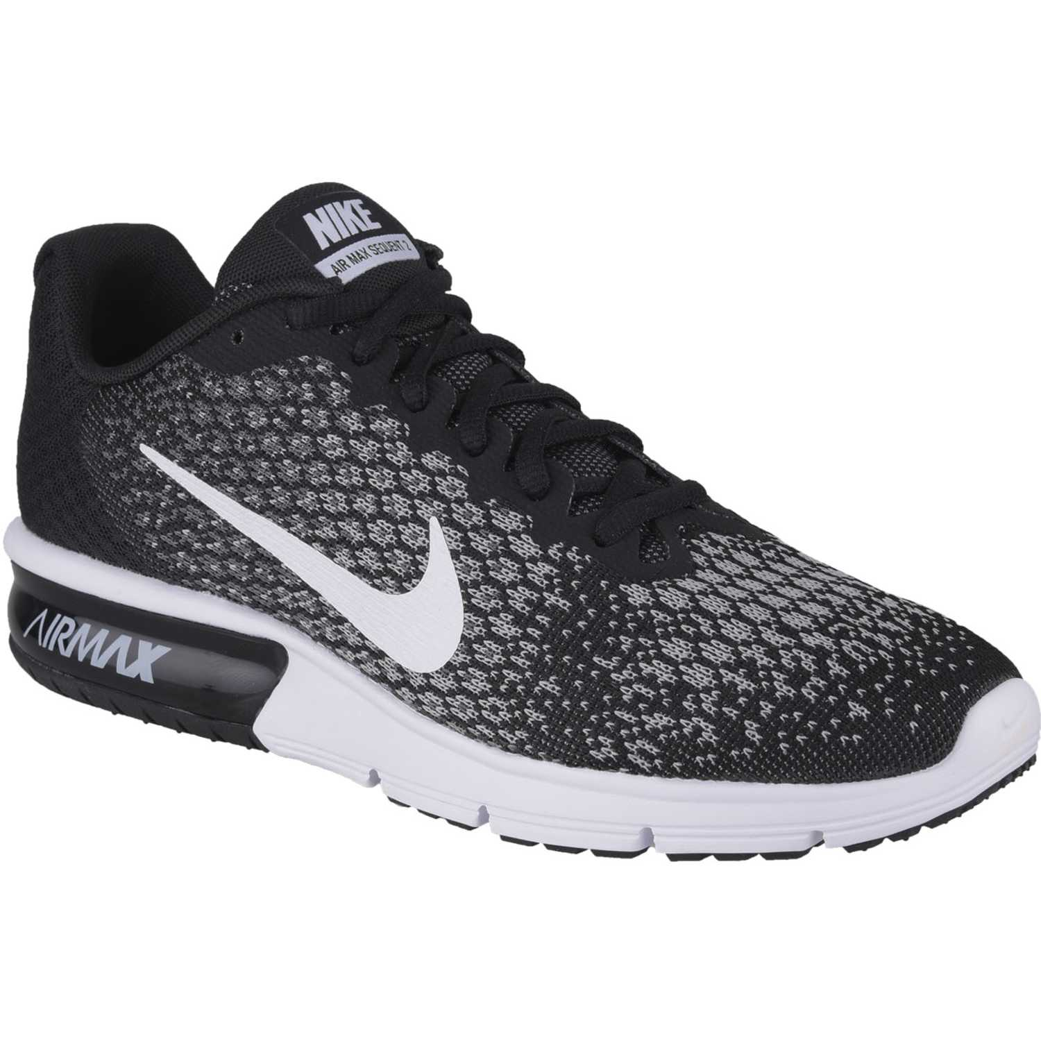Zapatilla Air Max Sequent Blanco/Negro Nike ZTP4AfccJb