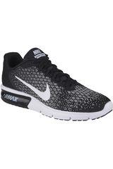 Nike Negro / Blanco de Hombre modelo AIR MAX SEQUENT 2 Running Deportivo Zapatillas