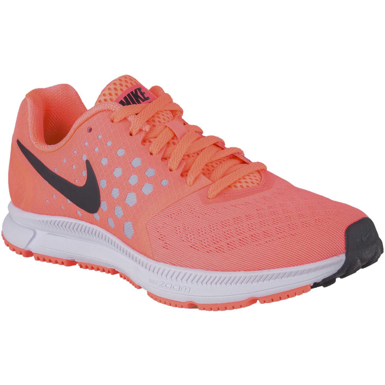 69f80bed47e Zapatilla de Mujer Nike Coral   gris wmns zoom span