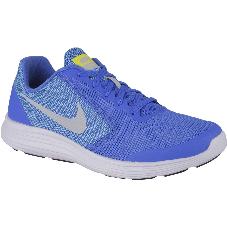 Zapatilla de Jovencita Nike azulino / blanco revolution 3 gg