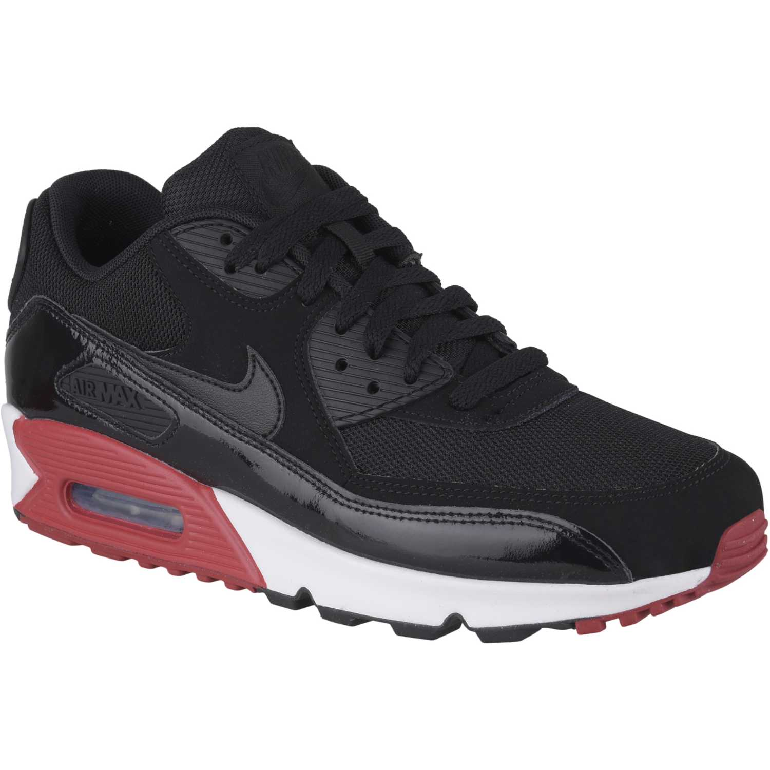discount hombres nike air max 90 negro and rojo 67c62 b5b44