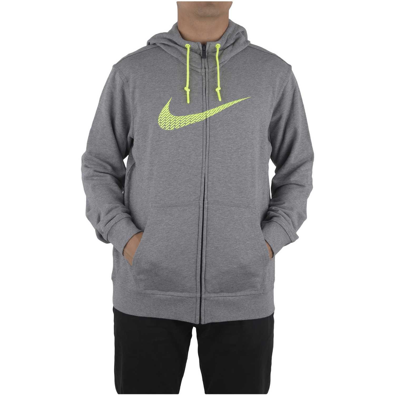 Casaca de Hombre Nike Gris club ft fz hoody-swoosh+