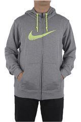 Nike Gris de Hombre modelo CLUB FT FZ HOODY-SWOOSH+ Deportivo Casacas