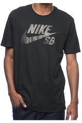Nike Negro /Gris de Hombre modelo SB LOGO TEE Polos Casual