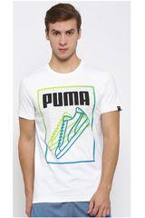Puma Blanco de Hombre modelo SNEAKER LINES TEE Deportivo Polos