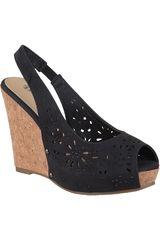 Platanitos Negro de Mujer modelo SPW-950 Casual Cuña Sandalias