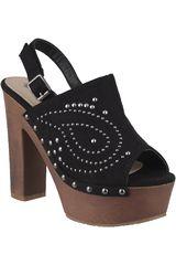 Platanitos Negro de Mujer modelo SP-897 Casual Cuña Sandalias