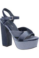 Platanitos Azul de Mujer modelo SP-1081 Casual Cuña Sandalias