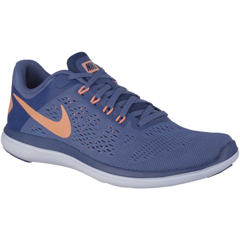 e8265477081 Zapatilla de Mujer Nike Acero   Naranja wmns flex 2016 rn ...