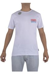 Billabong Blanco de Hombre modelo FLAMING BILLBOARD T Polos Casual