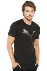 Puma Negro / Blanco de Hombre modelo CORE-RUN LOGO S/S TEE Polos Deportivo
