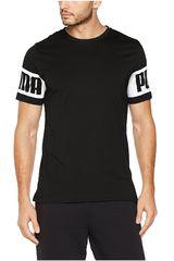 Puma Negro / Blanco de Hombre modelo REBEL TEE Polos Deportivo