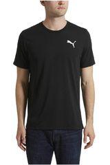 Puma Negro / Blanco de Hombre modelo ACTIVE TEE Polos Deportivo