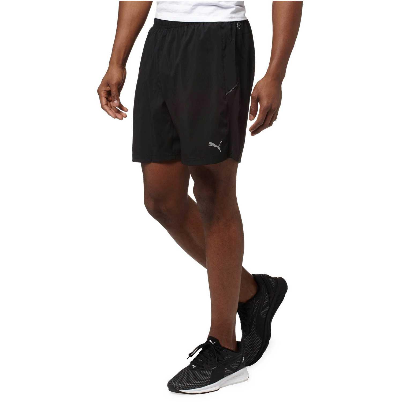 b217e10b664b Short de Hombre Puma Negro   blanco core-run 7 shorts