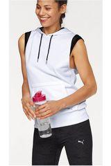 Puma Blanco de Mujer modelo EXPLOSIVE SLEEVELESS HOODIE Poleras Deportivo