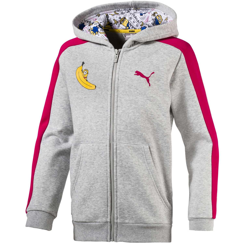 Polera de Niña Puma Gris / fucsia minions hooded jacket