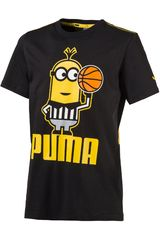 Puma Negro / Amarillo de Jovencito modelo MINIONS TEE Polos Deportivo