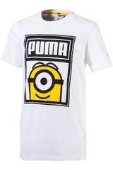 Puma Blanco / Amarillo de Jovencito modelo MINIONS TEE Polos Deportivo