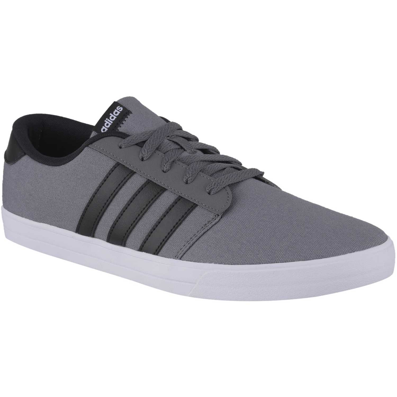 adidas neo gris y negro