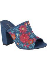 Platanitos Azul de Mujer modelo S-KP5 Casual Sandalias Tacos