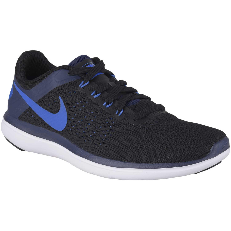 Zapatilla de Hombre Nike Negro / Celeste flex 2016 rn