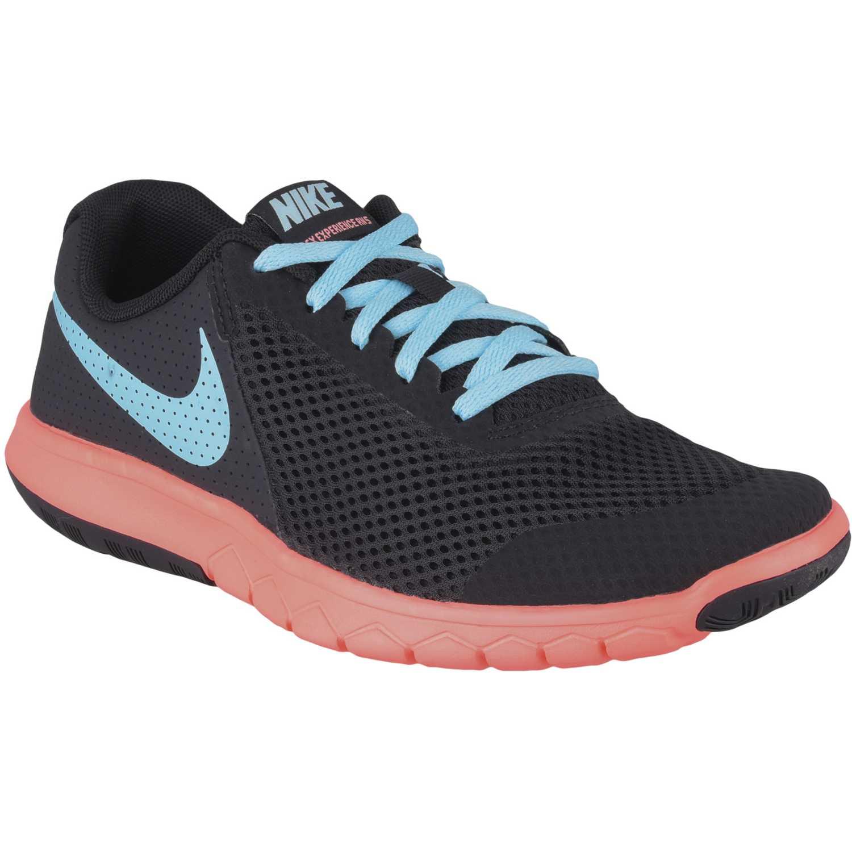 Zapatilla de Jovencita Nike Negro / Celeste flex experience 5 gg
