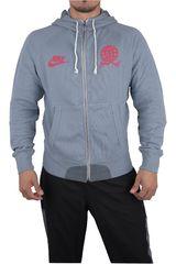 Nike Gris / rojo de Hombre modelo AW77-RU TRAIL FZ HOODY Deportivo Casacas