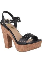 Limoni - Cuero Negro de Mujer modelo SP MADYSON1 Sandalias Cuña Casual