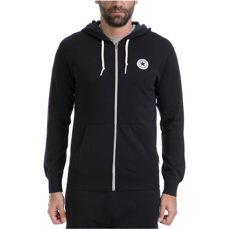 Casaca de Hombre Converse Negro core full zip hoodie black