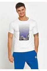 Converse Blanco de Hombre modelo MICROSTRIPE CITY SCAPE TEE Casual Polos