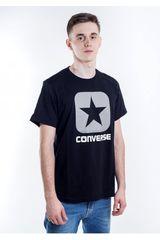 Converse Negro de Hombre modelo CORE BOXSTAR TEE Polos Casual