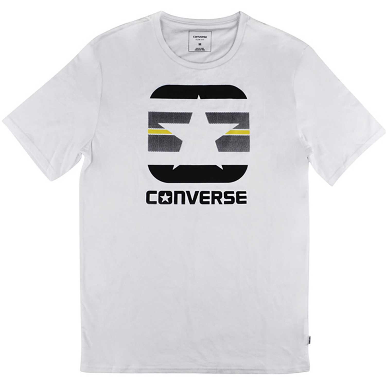 Polo de Hombre Converse Blanco stripe fill boxstar tee