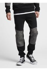 Converse Negro /gris de Hombre modelo MARL PANEL JOGGER Pantalones Casual
