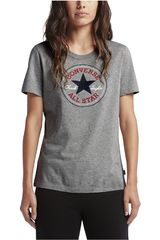 Converse Gris de Mujer modelo CORE SOLID CHUCK PATCH CREW Casual Polos