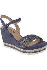 Platanitos Azul de Mujer modelo SPW-7162 Casual Cuña Sandalias