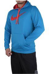 Nike Celeste / Rojo de Hombre modelo KO SHADOW STRIPE HOODY Poleras Deportivo