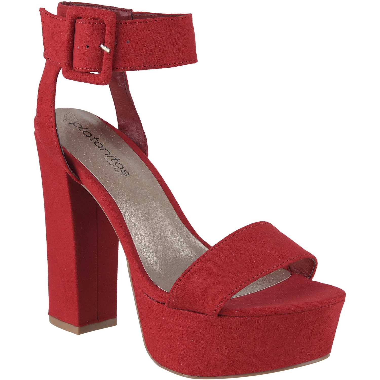 Sandalia Plataforma de Mujer Platanitos Rojo sp-crush01